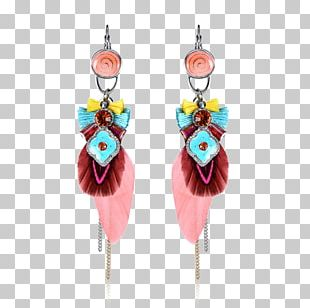 Earring Body Jewellery Gold Pink PNG