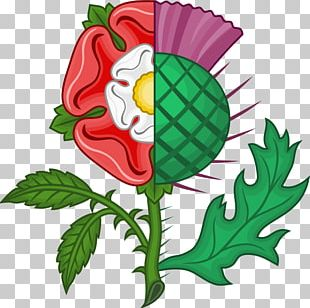 Thistle Scotland Rose The Thrissil And The Rois Union Of The Crowns PNG