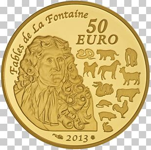 50 Euro Note France Gold Coin PNG