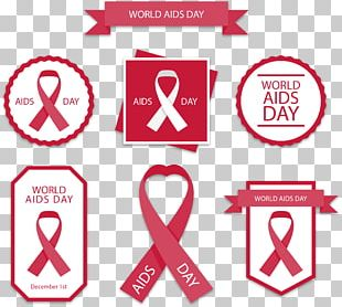 Logo World AIDS Day Red Ribbon PNG