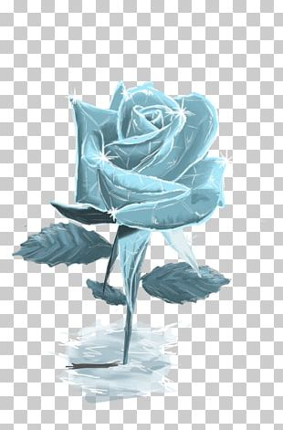 Flower Blue Rose Ice Drawing PNG