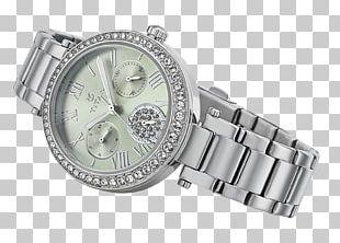 Watch Strap Metal Titan Company Platinum PNG