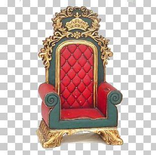 Throne Christmas Tree Father Christmas Santa's Workshop Christmas Lights PNG