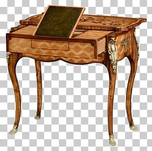 Writing Desk Writing Table Campaign Desk Marquetry PNG