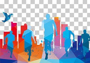 Running Poster Graphic Design Illustration PNG