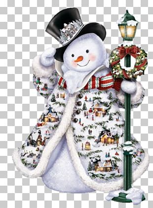 Snowman Christmas Painting PNG