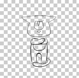 Line Art Drawing Cat Cartoon PNG