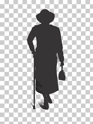 Old Age Silhouette Man PNG