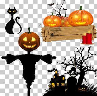 Halloween Pumpkin Drinking Straw Paper PNG