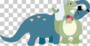 Wedding Invitation Dinosaur Bride PNG