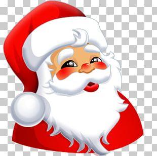 Santa Claus Smiley Face PNG