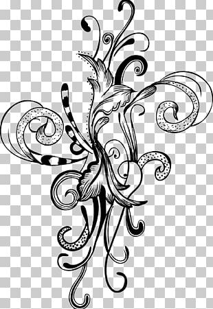Flower Brush Drawing PNG