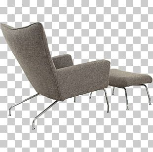 Wing Chair Foot Rests Furniture Couch PNG