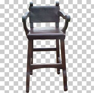 Bar Stool Wing Chair Seat Wood PNG