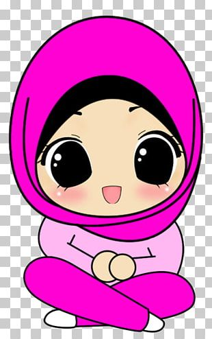 Hijab Muslim Islam Cartoon Drawing PNG