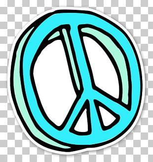 Peace Symbols Sticker Label PNG