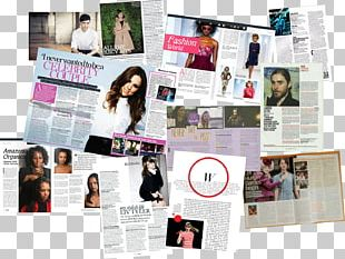 Advertising Magazine Brand Page Layout PNG