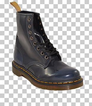 Boot Shoe Black Dr. Martens White PNG