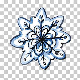Snowflake Watercolor Painting Computer File PNG