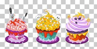 Cupcake Halloween Cake Candy Corn PNG