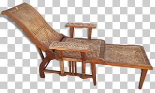 Chaise Longue Deckchair Wicker Rattan PNG