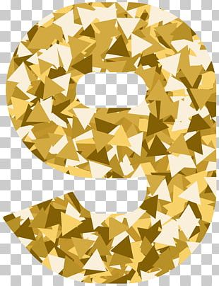 Mosaic Style Number Nine PNG