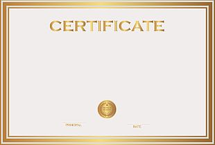 Student Template Academic Certificate PNG