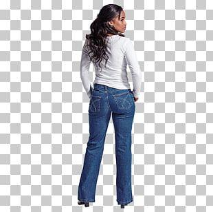 Jeans Cobalt Blue Waist PNG