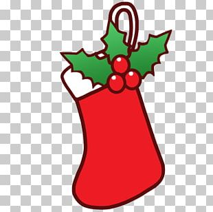 Christmas Tree Santa Claus Sock PNG