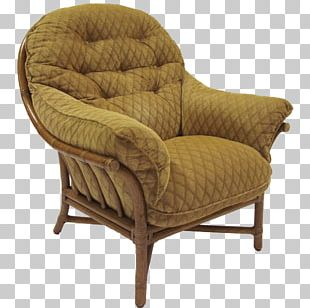 Rattan Club Chair Foot Rests Furniture PNG