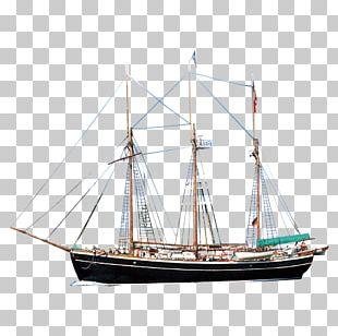 Sailing Ship Barque Mast Sailboat PNG