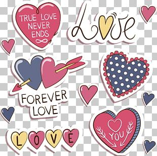 Love Valentines Day Sticker Label PNG