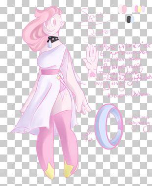Metal-coated Crystal Rose Quartz Gemstone Fairy PNG