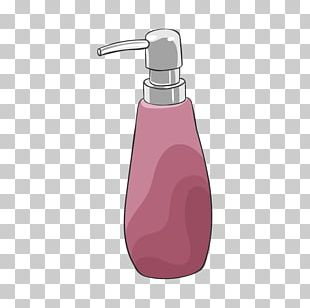 Soap Dispenser Bottle Purple PNG