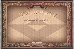 Diploma Academic Certificate PNG