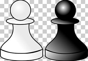 Chess Piece Black & White Pawn White And Black In Chess PNG