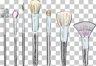 Makeup Brush Cosmetics Drawing Illustration PNG