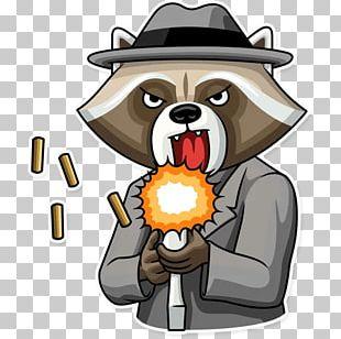 Raccoon Sticker Telegram VKontakte PNG