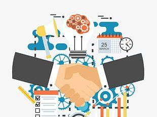Cloud Computing Large Data Cooperation PNG