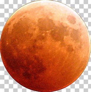 Moon Orange Red Blood PNG