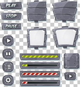 User Interface Button Game PNG