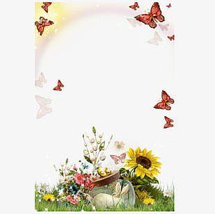 Sunflower Flower Frame PNG