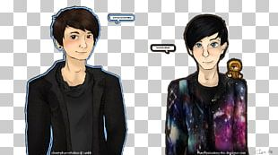 Jacket Black Hair Outerwear Animated Cartoon PNG