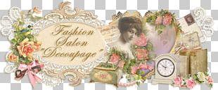 Fashion Decoupage Vintage Clothing Floral Design PNG