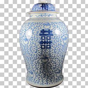 Urn Blue And White Pottery Ceramic Cobalt Blue Vase PNG