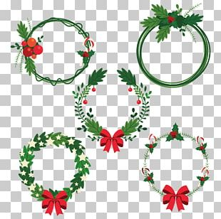 Christmas Tree Advent Wreath Garland PNG