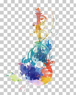 Guitar Watercolor Painting Music PNG