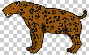 Leopard Cheetah Jaguar Felidae Xenosmilus PNG