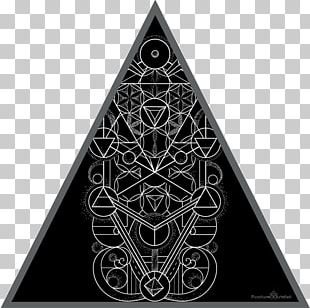 Triangle Art Sacred Geometry Mindful Ink PNG