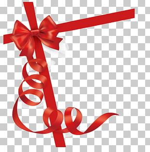 Red Ribbon Gift Card PNG